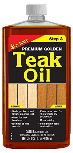 Star brite Premium Golden Teak Oil - Sealer,...
