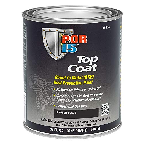 POR-15 45904 Top Coat Chassis Black Paint, 32...