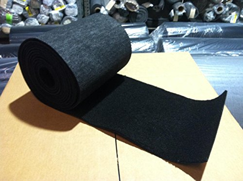 Black Bunk Carpet - 12 inches Wide - Marine...