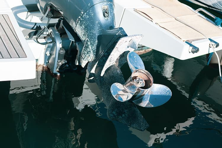 propeller of a boat